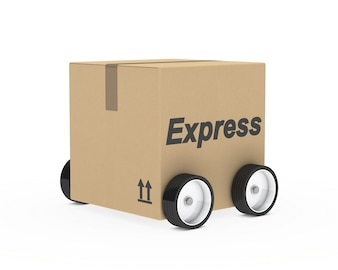 Carton véhicule à quatre roues