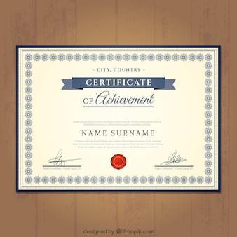 Certificat de modèle de réussite