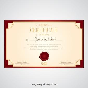 Certificat élégante