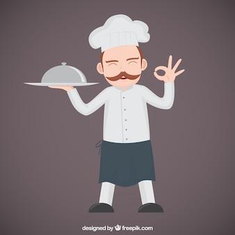 Chef de cuisine illustration