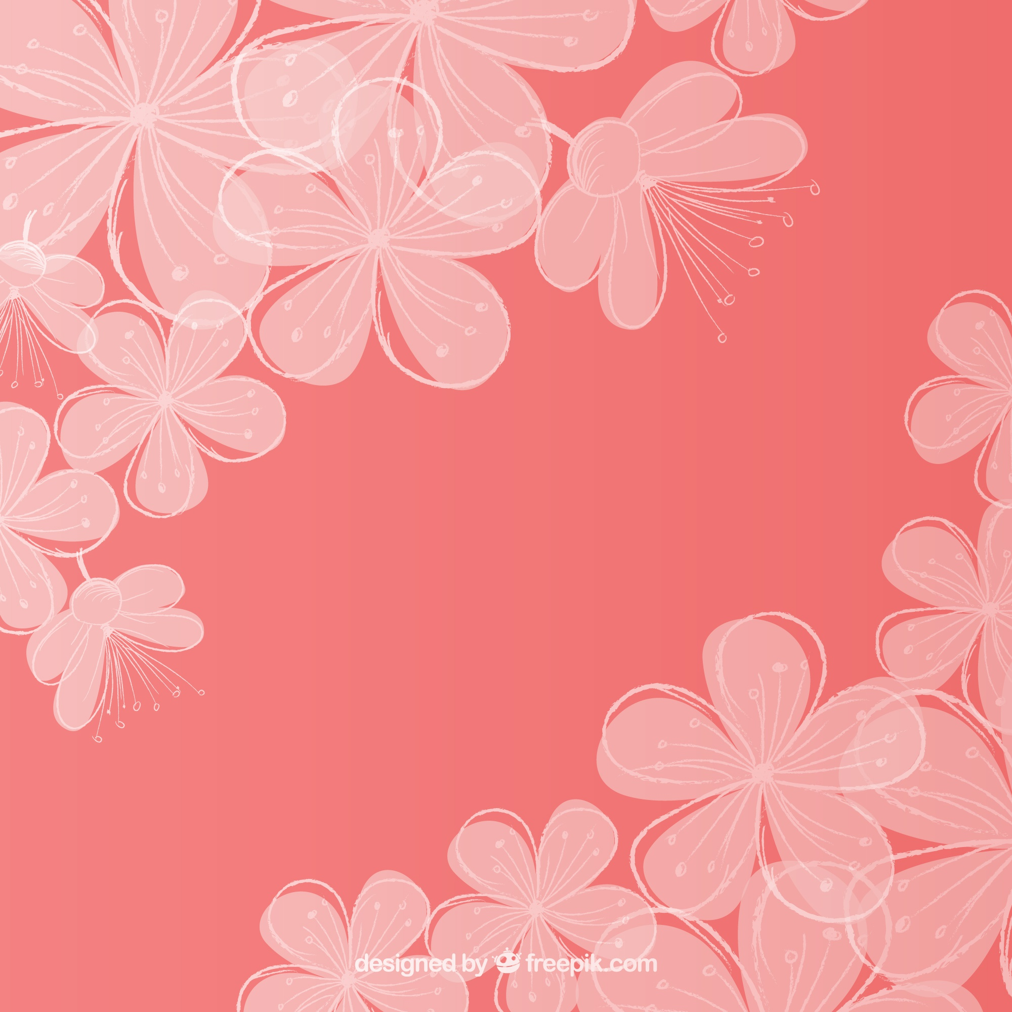 Cherry blossom floral background