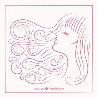 Cheveux croquis de fille