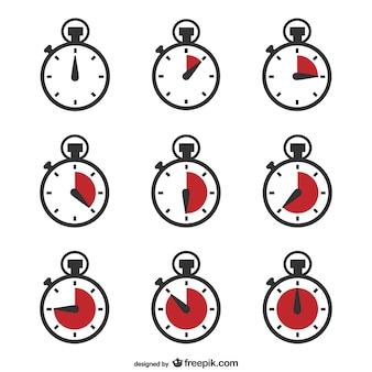Vecteur chronomètre minuteur