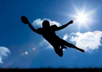 Ciel silhouette compétition costume sportif