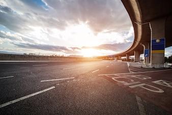 Ciel suspension grande route autoroute
