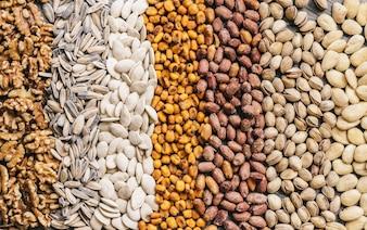 Cinq différents types de noix