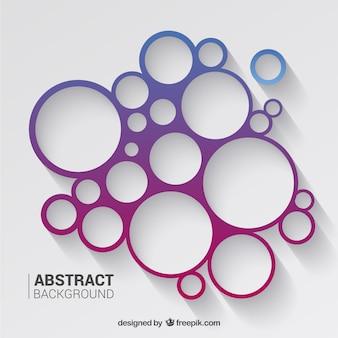 Cercles de fond dans les tons violet et bleu