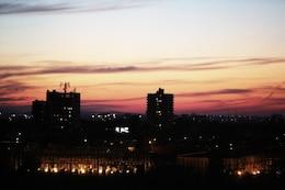 City sunset coloré