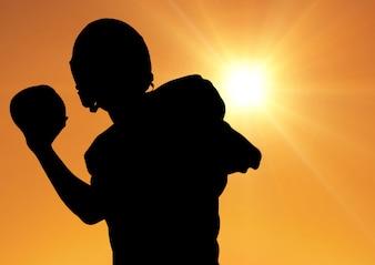 Clé expertise football tenue américain découpé