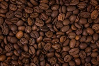 Close-up de grains de café torréfiés
