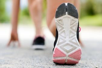 Close-up de la semelle de la chaussure