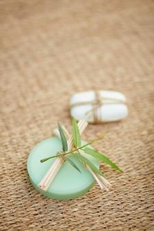Close-up des savons aromatiques