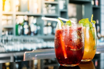 Cocktail glacé en verre