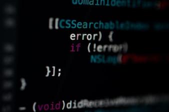 Code de programmation fond d'activité abstraite du développeur de logiciels.