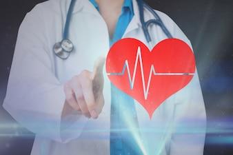 Coeur carrière cardiaque taux d'affichage