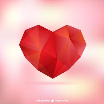 Coeur polygonale pour les mères jour