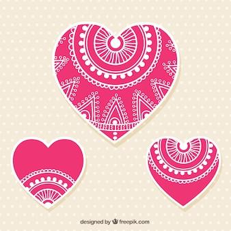 Coeurs roses ornementales