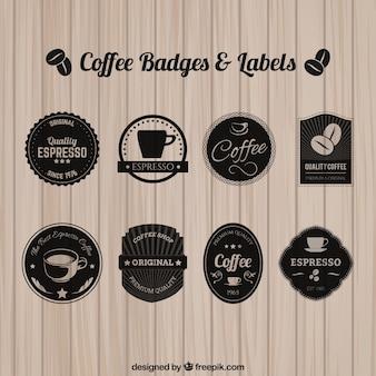 Insignes et étiquettes Café