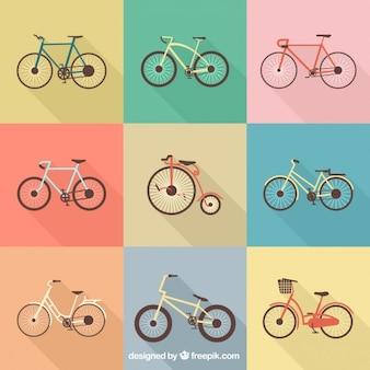 Colection de vélos rétro