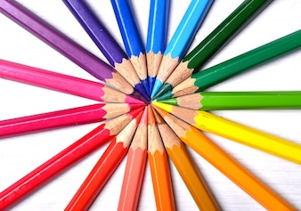collection couleur crayons