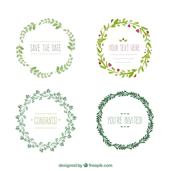 Collection couronne de fleurs