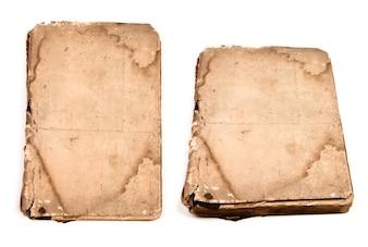 Collection de livres anciens isolé sur blanc