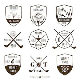 Collection de logos vintages de golf