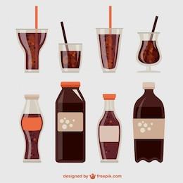 Collection pétillante de boissons gazeuses