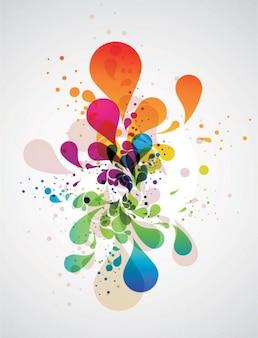 Coloré Fond abstrait éclaboussures