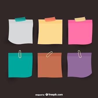 Coloré notes de papier vecteur