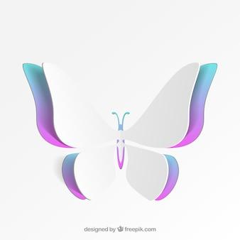 Papillon coloré de papier