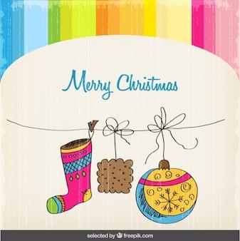 Colorful carte de Noël
