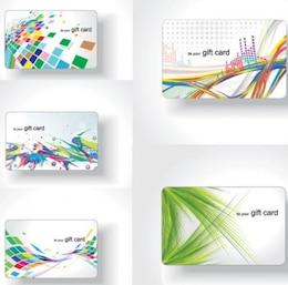 Colorful flux de matières cartes de visite vecteur