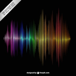 Colorful onde sonore