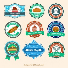 Commerce alimentaire badges