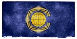 Commonwealth des nations drapeau grunge