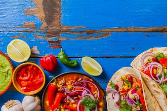 Composition alimentaire mexicaine