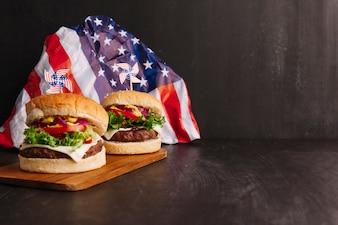 Composition américaine de hamburger