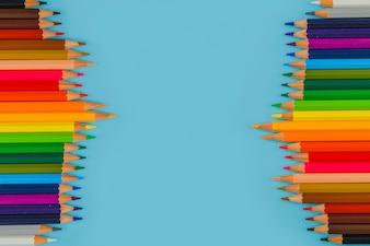 Composition créative des crayons
