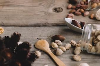 Composition décorative des noix