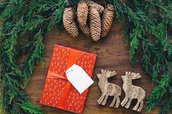 Composition décorative pour Noël