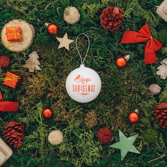 Composition pour Noël avec ballon