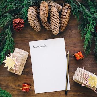 Composition pour Noël avec lettre