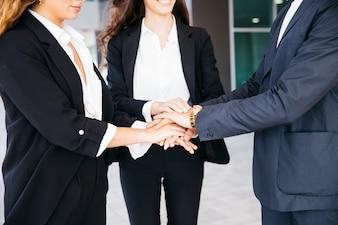 Concept d'affaires et de travail d'équipe