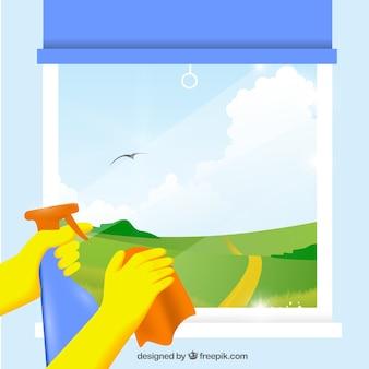 concept de nettoyage de printemps