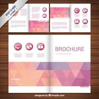 Conception Brochure avec des triangles