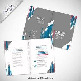 conception de la brochure avec des rayures abstraites