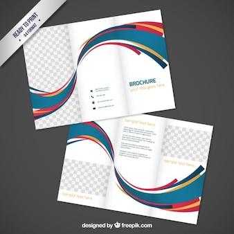 conception de la brochure avec des vagues abstraites