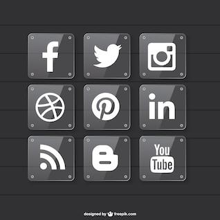 Conception de matériau transparent des médias sociaux