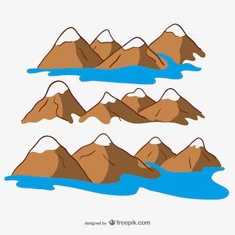 Conception des montagnes de dessin